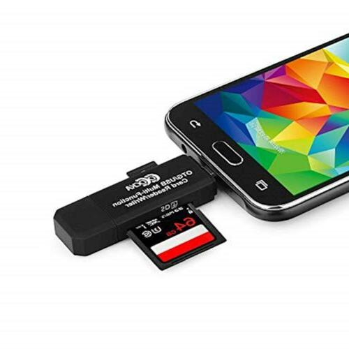COCOCKA Micro OTG to 2.0 Adapter; SD/Micro Card with