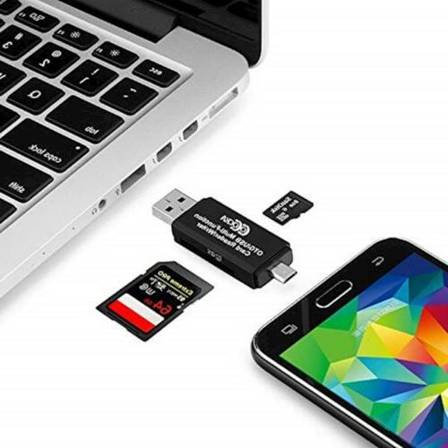COCOCKA USB to USB 2.0 Adapter; SD/Micro Card with