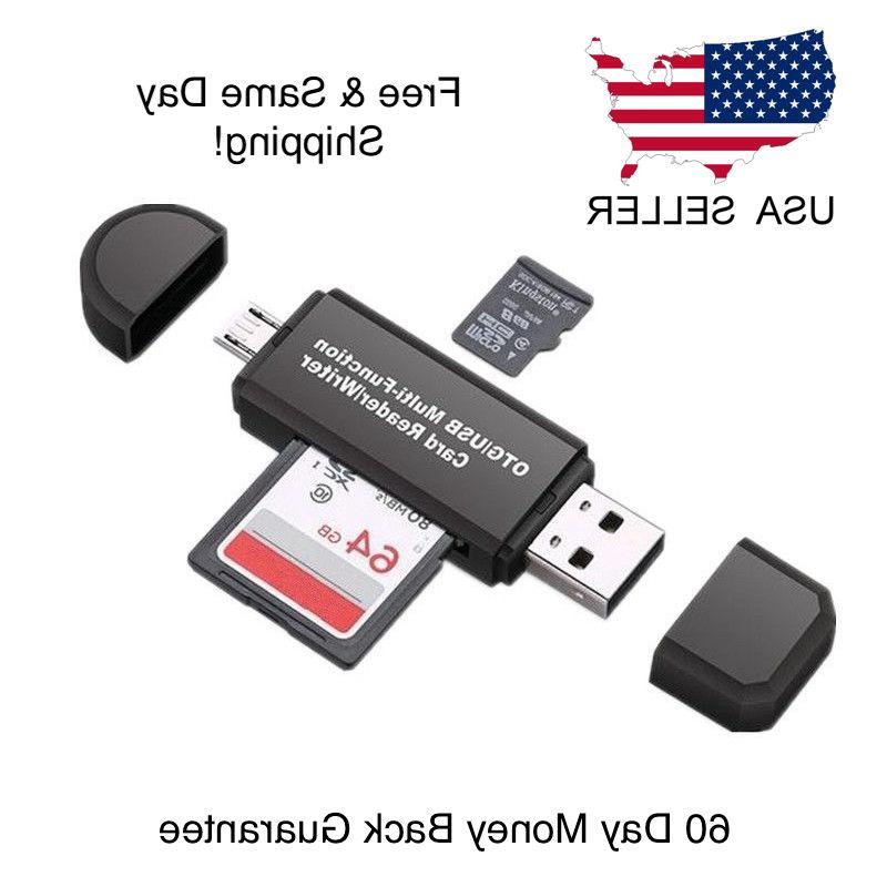 Micro USB OTG USB SD with USB