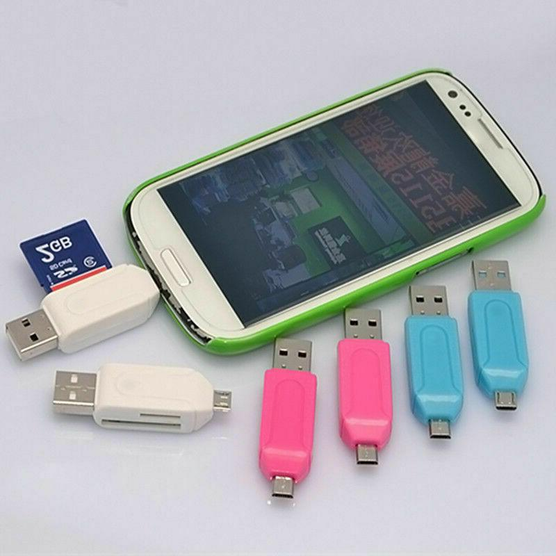Micro to USB 2.0 Adapter Card-Reader Android Phone Tab P6S8
