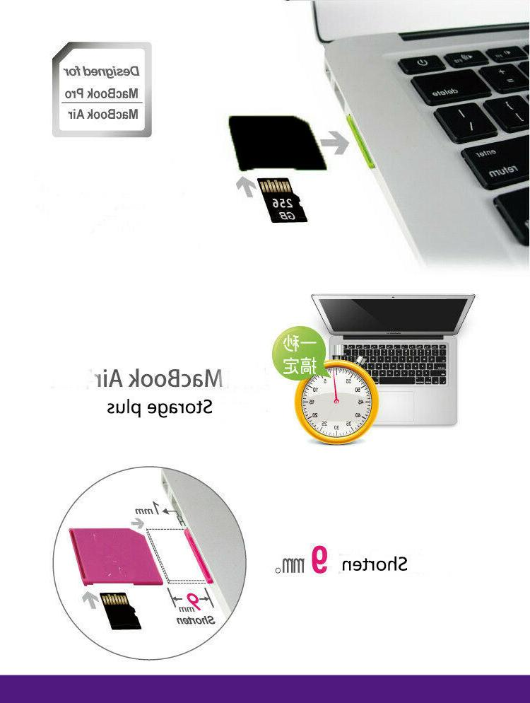 MicroSD Card TF to Short SD For Mac Air Up to 256G