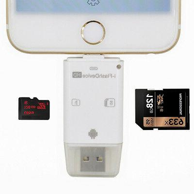 3 in 1 TF SD Card Reader Adapter for iPhone/ipad/ MAC/ PC/ A