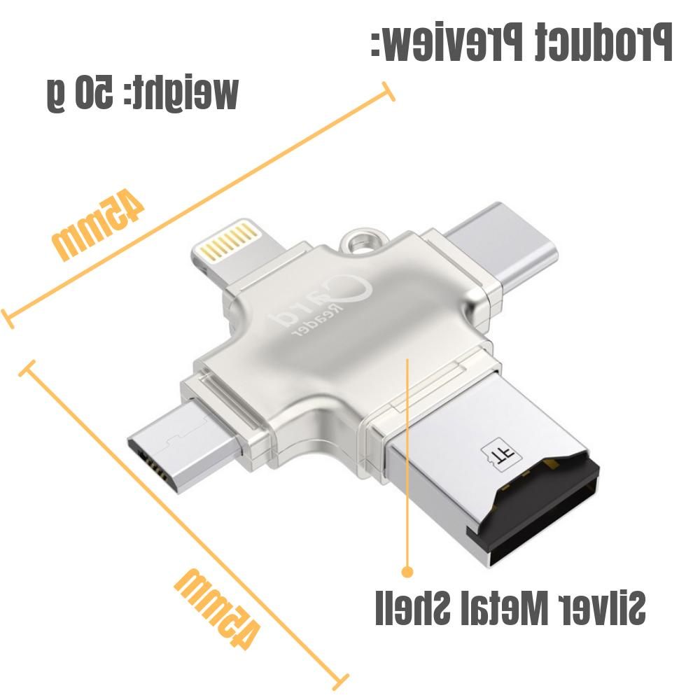 New 4 Card USB Android/iPhone/PC