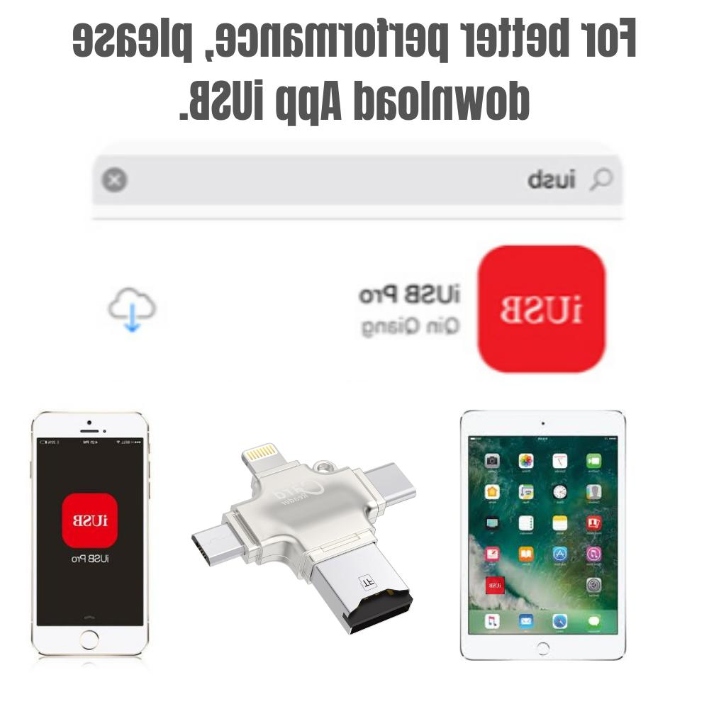 New 4 Card Reader Multi-function USB Android/iPhone/PC
