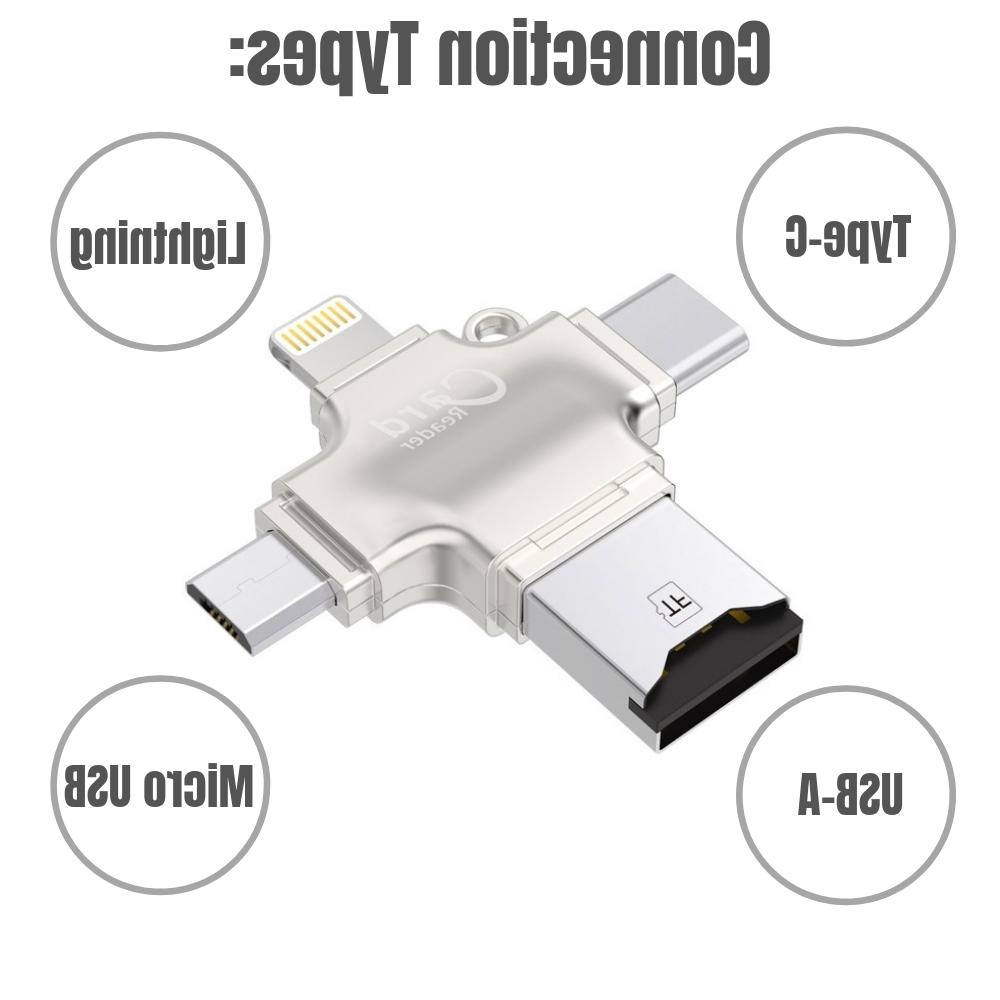 New 4 in Card Adapter USB for OTG Android/iPhone/PC