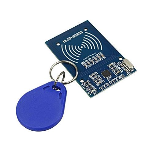 RC522 RF IC Reader Sensor Module with 5pcs Additional S50 Key Card as Gift and RFID Chip Key Ring for Arduino and Raspberry Pi IZOKEE RFID Kit