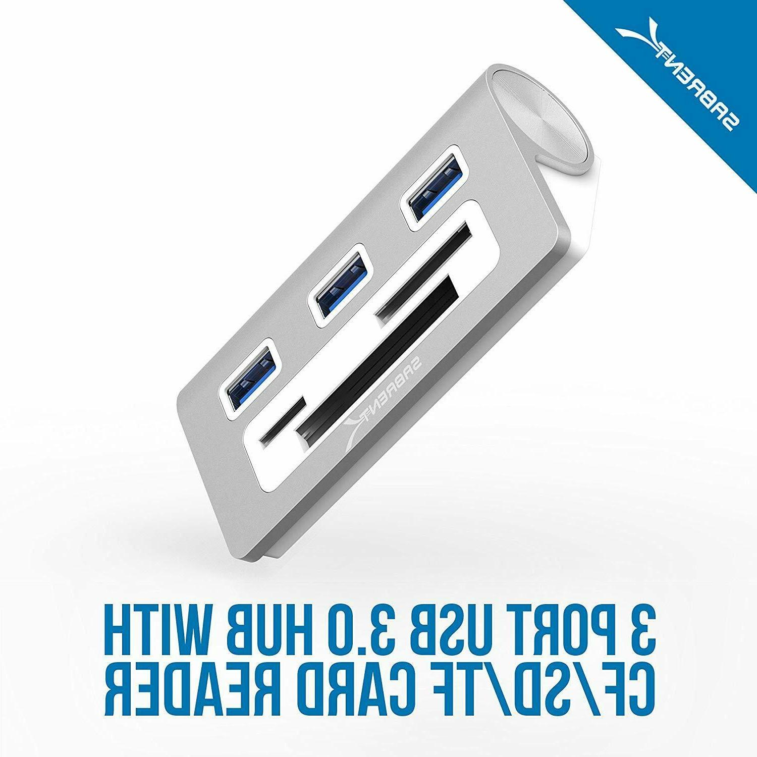Sabrent Premium 3 Aluminum with Card Reader-12 Cable