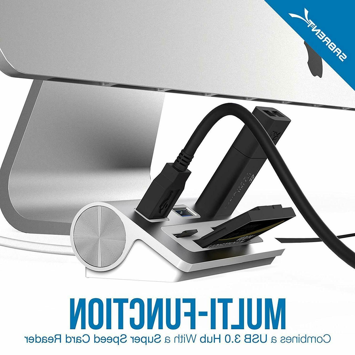 Sabrent Port Aluminum USB 3.0 with Multi-in-1 Cable