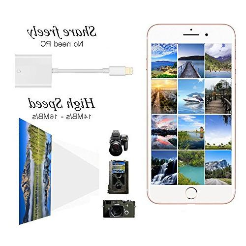 Card Card Reader with Game Camera Card Adapter iPhone/iPad