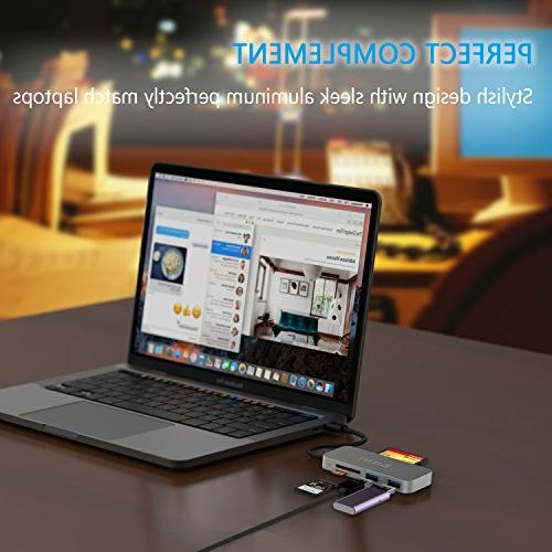 SD USB Adapter Card Reader and Hub for MacBook Pro C