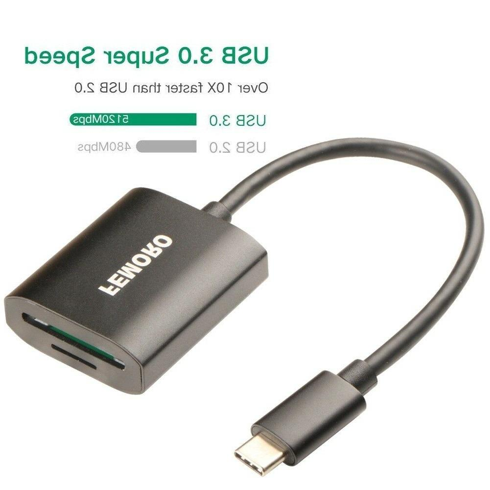 SD Reader USBC USB 3.1 Slot Flash Memory TF Reader