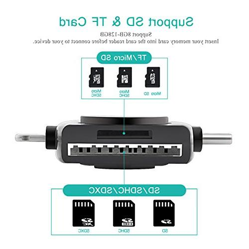Geekgo SD Micro USB Card Adapter for Mac,Compatiable USB 4 in 1