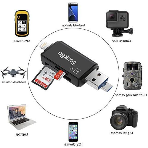 Geekgo Reader iPhone Mac - Supports Micro USB OTG 3 in 1