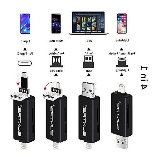 suntrsi Micro SD Card Reader Compatible iPhone/iPad Charging,Compatible to Adapter