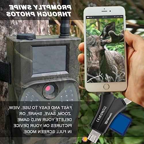 MOSPRO Trail for & Android, SD & Micro Memory Reader View Photos and Wildlife on Hunter Black