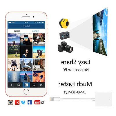 Lighting SD Card Camera Reader iPhone