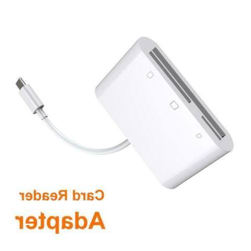 US CF Card Adapter Reader For iphone XR iPad