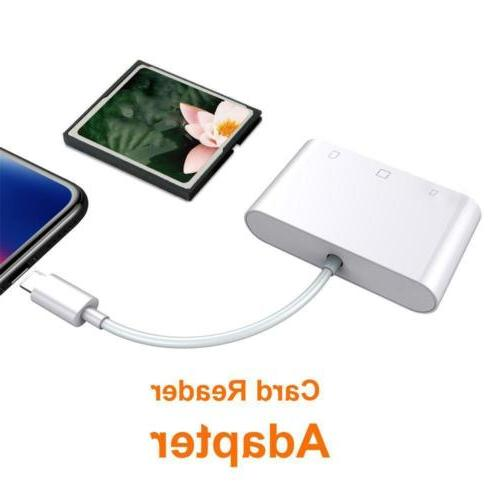 US 3in1 CF Card Adapter For iphone XS iPad