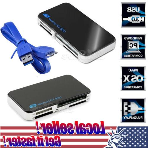USB 3.0 All in 1 Compact Flash Multi Card Reader CF Adapter