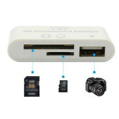 3in1 for Apple iphone X 8 7 6 USB Card Reader Micro-SD Camer