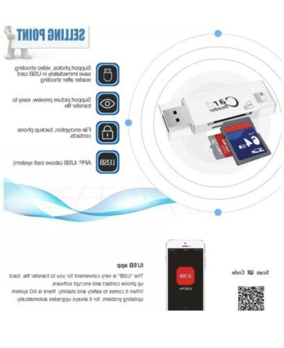 USB 3 1 reader Android iOS phone and