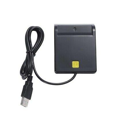 USB 2.0 Smart Reader Adapter EMV Common Access SIM/ATM/IC-/ID Black