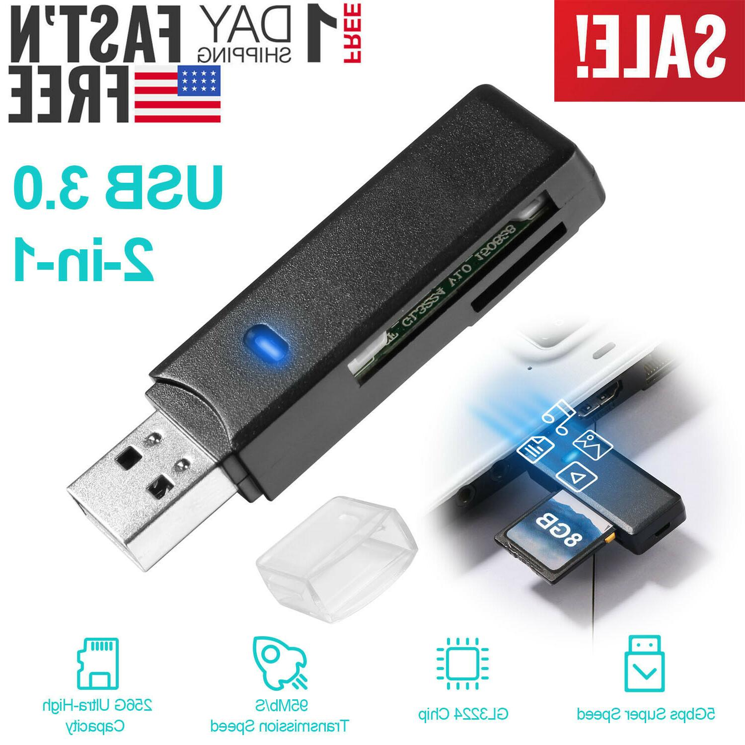 usb 3 0 card reader dual slot