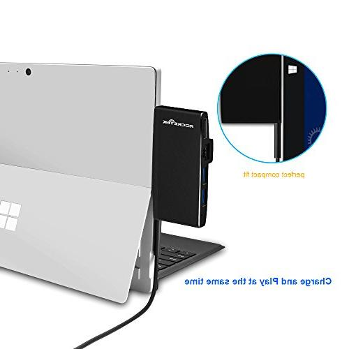 6 in 1 MultiPort Adapter Combo for Microsoft Surface 5 Gigabit Ethernet, SD/Micro Card and USB