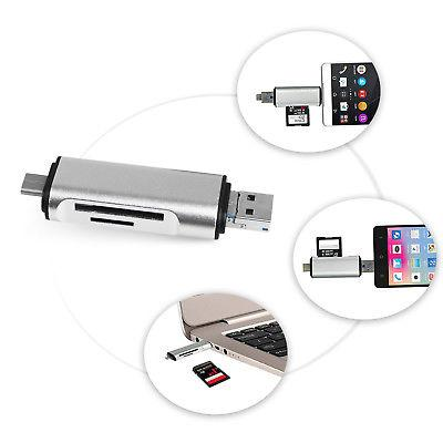 USB 3.0 Type / USB SD TF Memory Card OTG Adapter 5 in