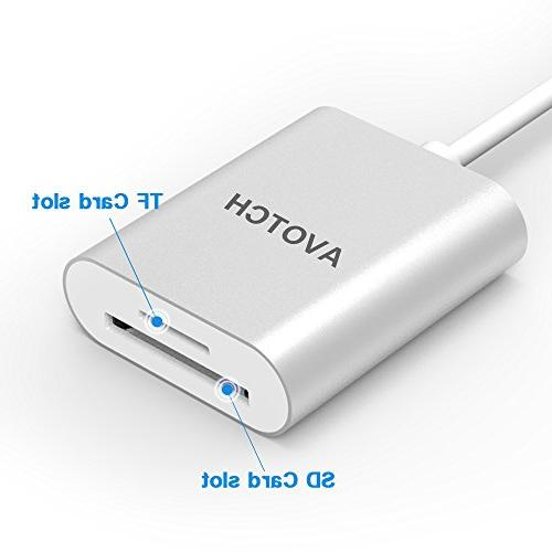 USB Type Card Reader,AVOTCH USB Reader 3.0 Card Card/TF Card MacBook Pro and More USB C Devices
