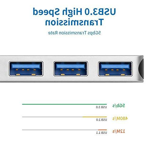 USB C HDMI Adapter 2018/2017, Surface Book 7 in 1 Type C SD/Micro 4K HDMI,3 Ports,USB C Pass-Through Port