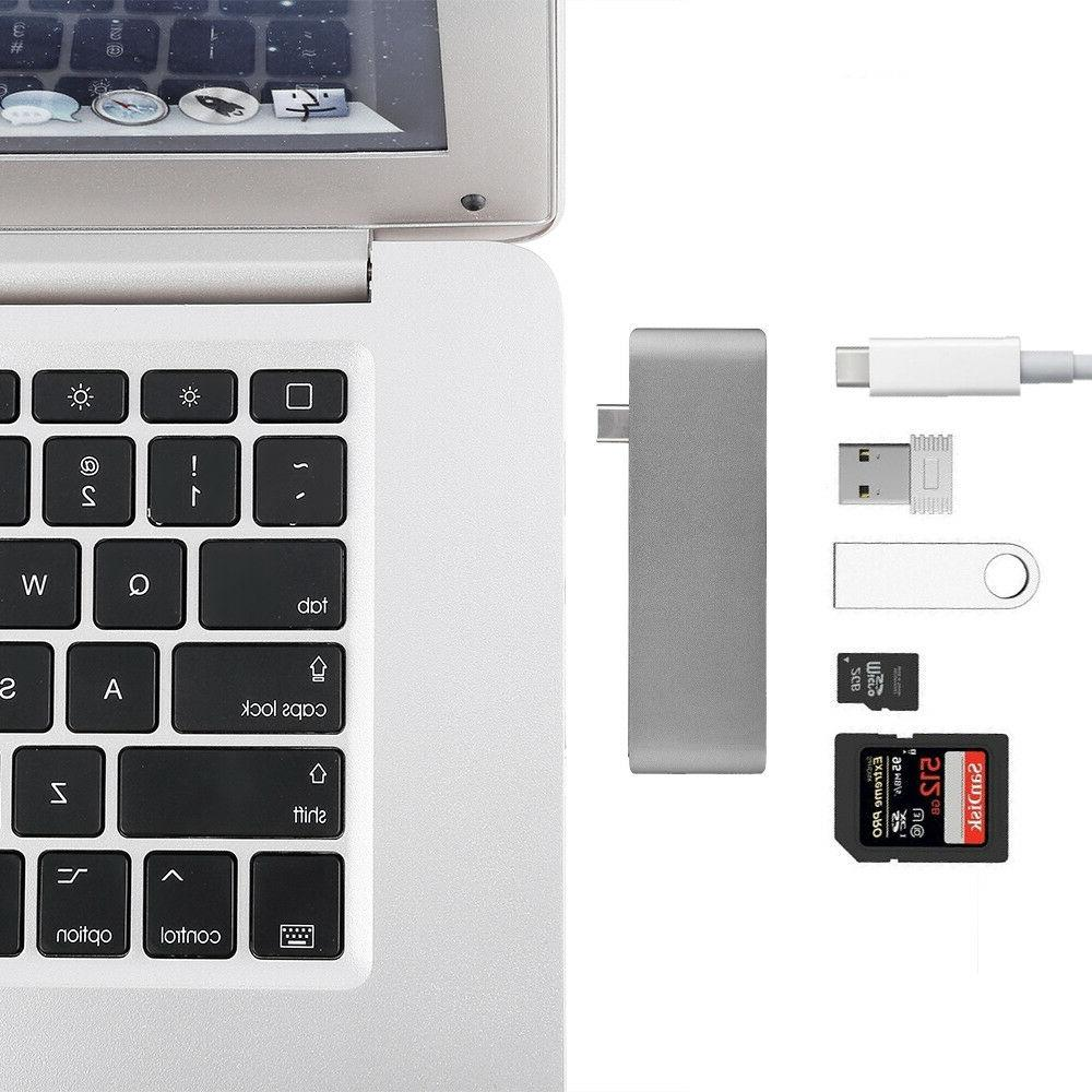 5in1 USB C 3.0 Type-C Adapter Charging Data Sync Reader For MacBook Pro