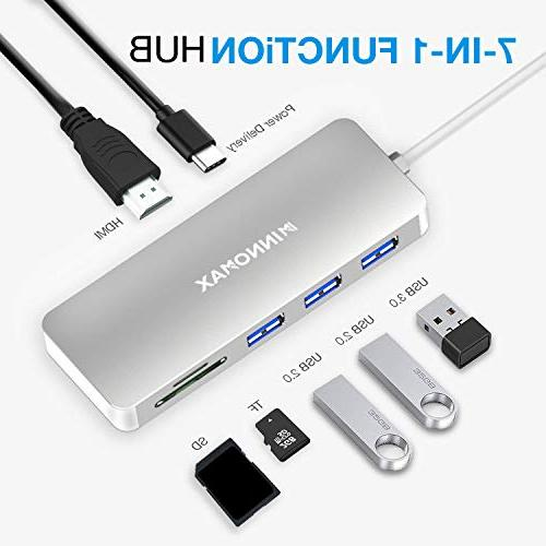 7-in-1 Thunderbolt 3 USB-C Hub with Power Delivery,