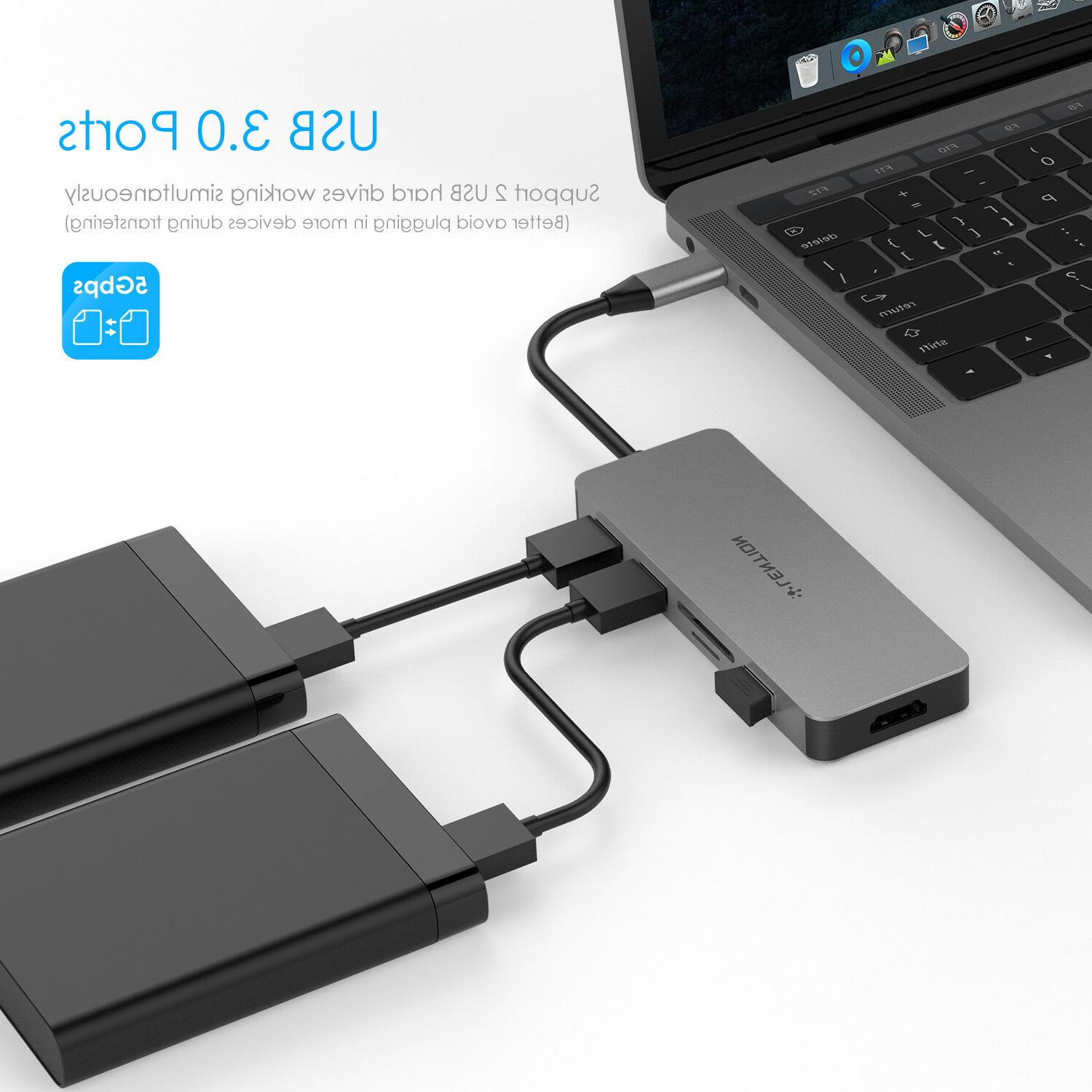 USB-C Hub Type C with 4K HDMI SD for 13/15
