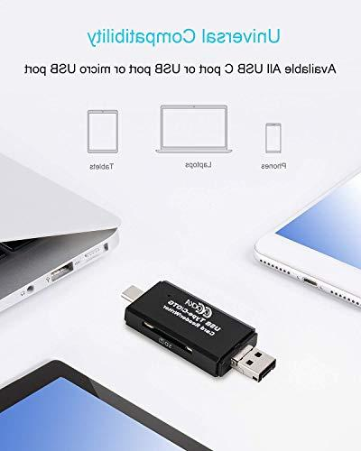 SD/TF Compact Reader with 3 1 USB Adapter and OTG Function Portable Card PC Laptop Smart Phones & Tablets