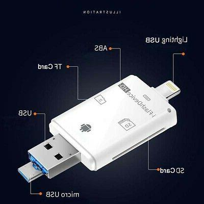 5in1 USB Card Reader Micro SD-Camera DSLR Link Adapter for A