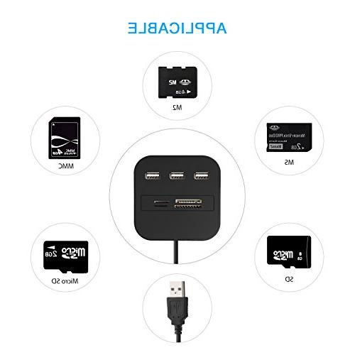 Seternaly Hub Card Reader High Speed USB Card for Laptop other Devices