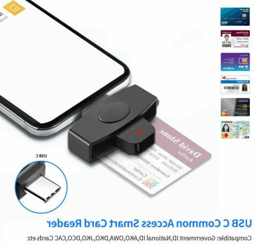 USB Type C Smart Card Reader CAC Common