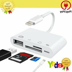 Lightning to Card Reader Adapter USB Camera Micro SD Memory
