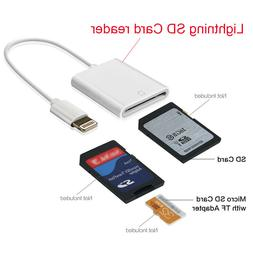 Lightning to SD Card Adapter Camera Memory Card Reader for i