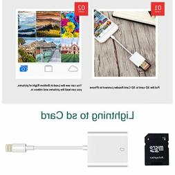 Lightning to sd Card Camera Reader Adapter for Apple iPhone