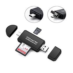 Memory Card Reader,SD/Micro SD Card Reader and Micro USB OTG