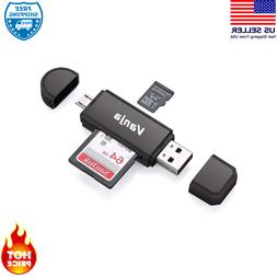 Memory Card Reader Sd Micro Sd And Micro Usb Otg To Usb 2.0