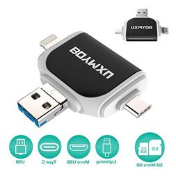 Micor SD Card Reader,BOYMXU Tf Card Reader iPhone iPad Andro