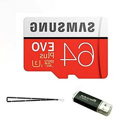 64GB Samsung Micro Plus SD XC Class 10 UHS-3 Memory Card for
