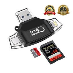 Micro SD Card Reader, SD/TF Memory Card Camera Reader USB Ad