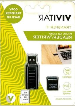 MICRO SD CARD READER/WRITER VIVITAR RW-1000-BLK USB 2.0