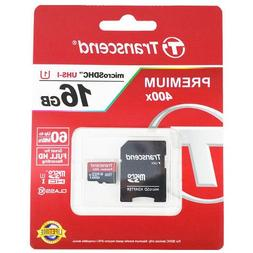 Transcend 16GB Micro SD Memory Card TF FullHD UHS-I 60MB/s 4