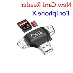 Micro SD &TF Card Reader , 4 in 1 Memory Card Camera Reader