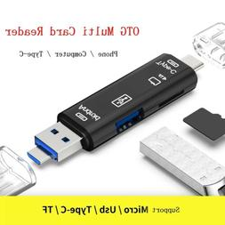 Micro SD USB TF OTG to USB 2.0 Adapter Card Reader For Andro